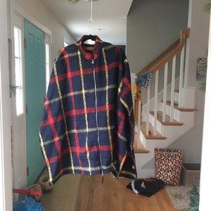 [Treasure & Bond] heavy zip up blanket poncho